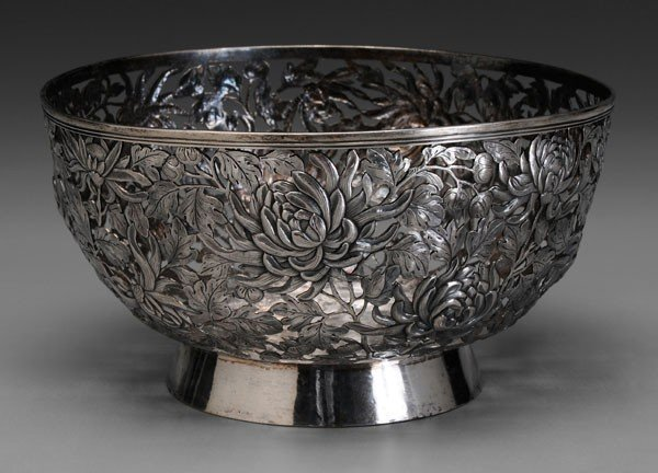 1167: Chinese Export Silver Bowl