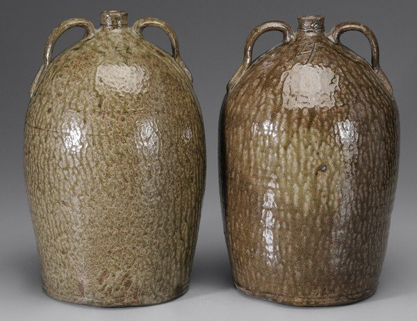 287: Two Similar Alkaline-Glazed Stoneware