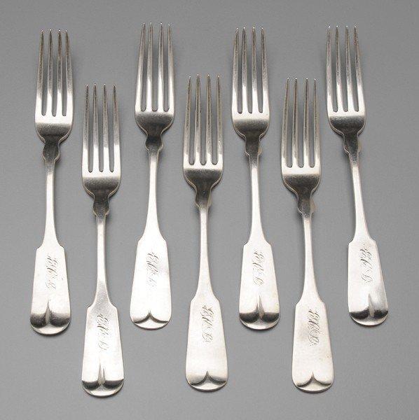 378: Seven Missouri Coin Silver Forks