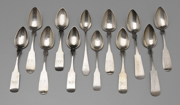 379: Twelve Coin Silver Spoons, Most