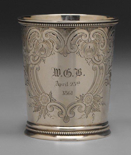 380: Carrington Coin Silver Julep Cup