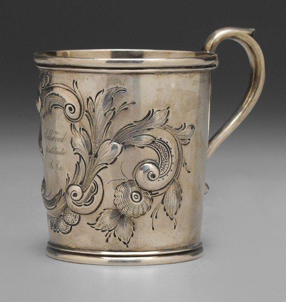 381: Wilmot Coin Silver Mug