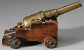 Miniature Brass Cannon