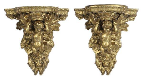 766: Pair Baroque Style Brackets
