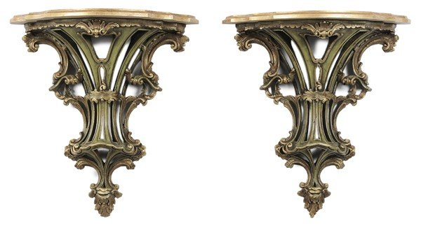 768: Large Pair Italian Faux-Painted