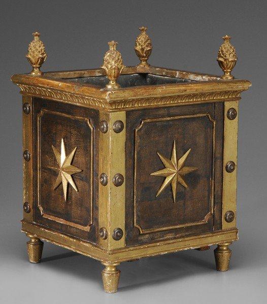 770: Fine Directoire Gilt Wood Cachepot