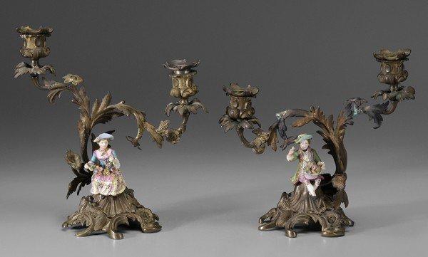 771: Pair Rococo Gilt Bronze