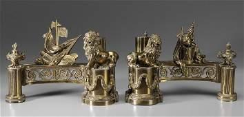 793 Pair Gilt Bronze Chenet