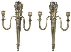 861: Pair Louis XVI Style Gilt Bronze