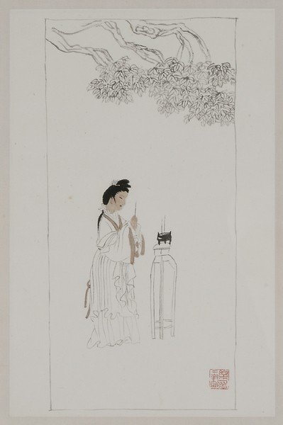 22: Woman Burning Incense on Festival Day