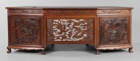 Carved Hardwood Desk