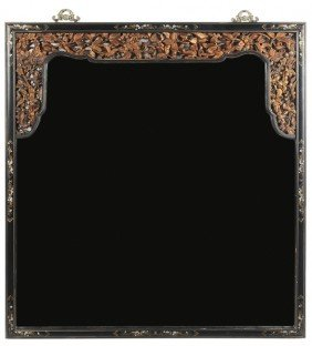 Carved And Paint-Decorated Mirror