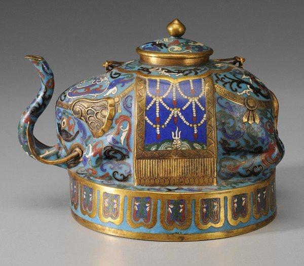 254: Cloisonné Teapot