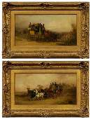 Pair paintings by William Shayer, Jr.