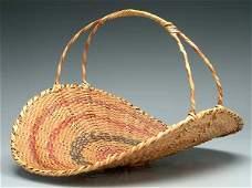 178: Choctaw river cane flower basket,