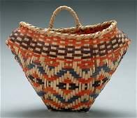 511: Choctaw cane basket,