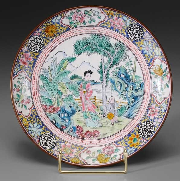 3: Enameled Copper Decorated Plate