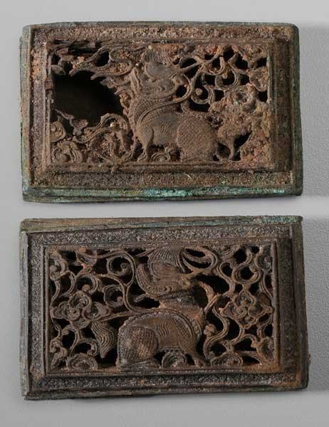 6: Two Carved Wood Plaques