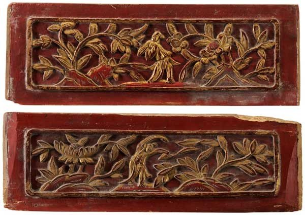 9: Carved and Gilt Wooden Panels