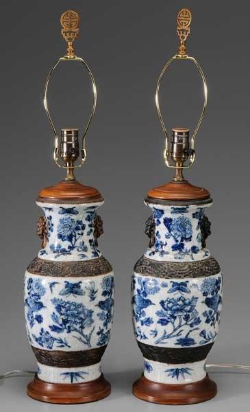 10: Pair Chinese Porcelain Lamp Bases