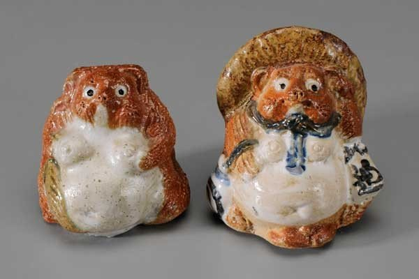 106: Pair Ceramic Animals