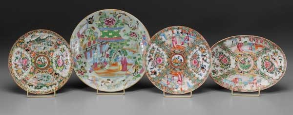 119: Four Decorated Porcelain Plates