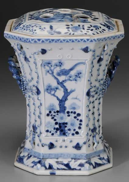 120: Blue and White Porcelain Bough Pot