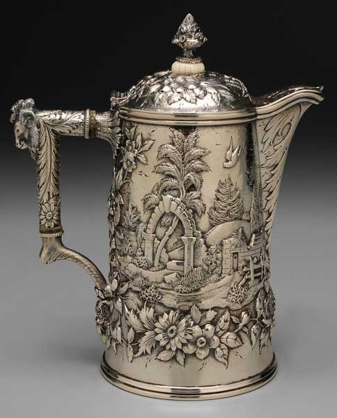 765: Kirk Sterling Repoussé Coffeepot