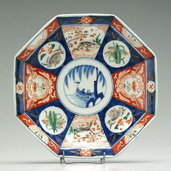 2: Imari octagonal bowl,