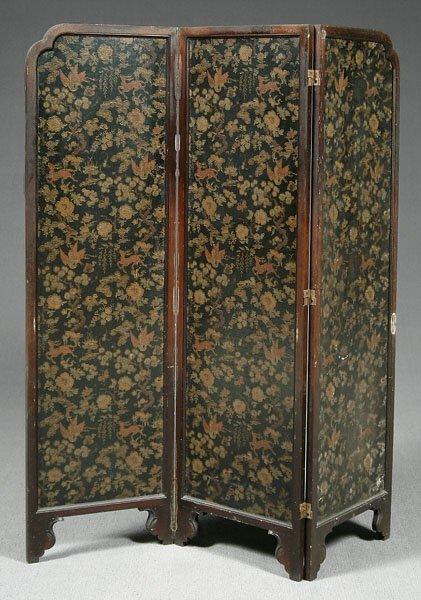 3: Three-panel folding screen,