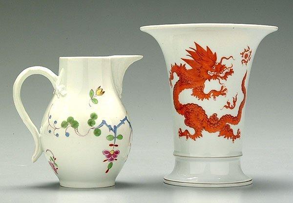 6: Two pieces Meissen porcelain: