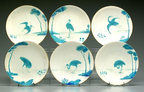 8: Six plates with herons,