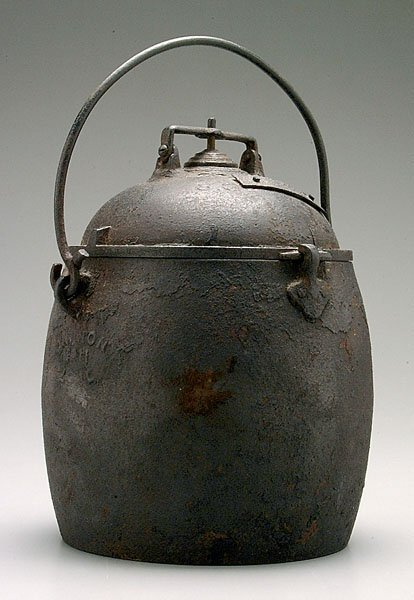 9: Cast iron pressure cooker,