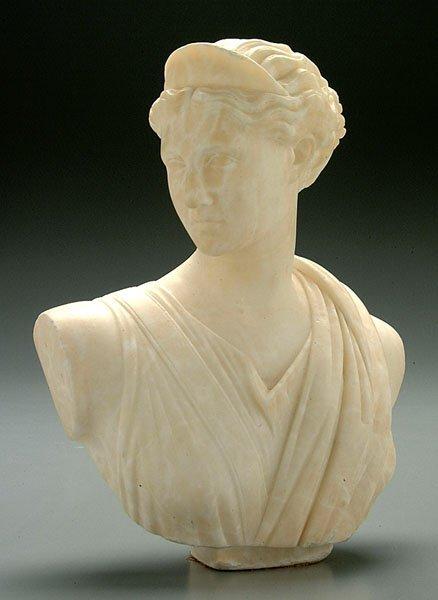13: Alabaster bust,