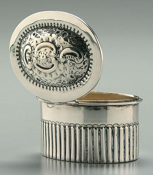 14B: Victorian English silver box,