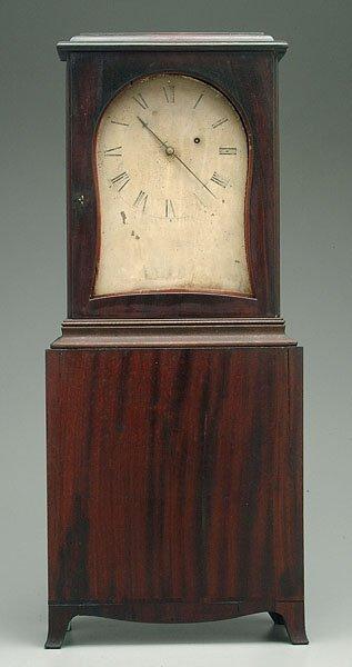 184: Connecticut mahogany mantle clock,