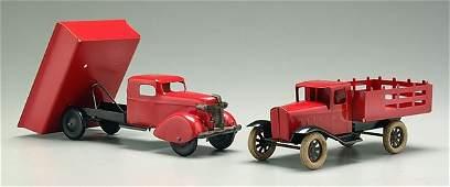 300: Two toy trucks: