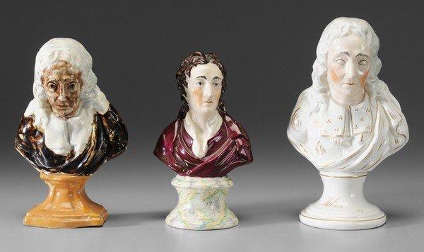 7: Three English Ceramic Busts
