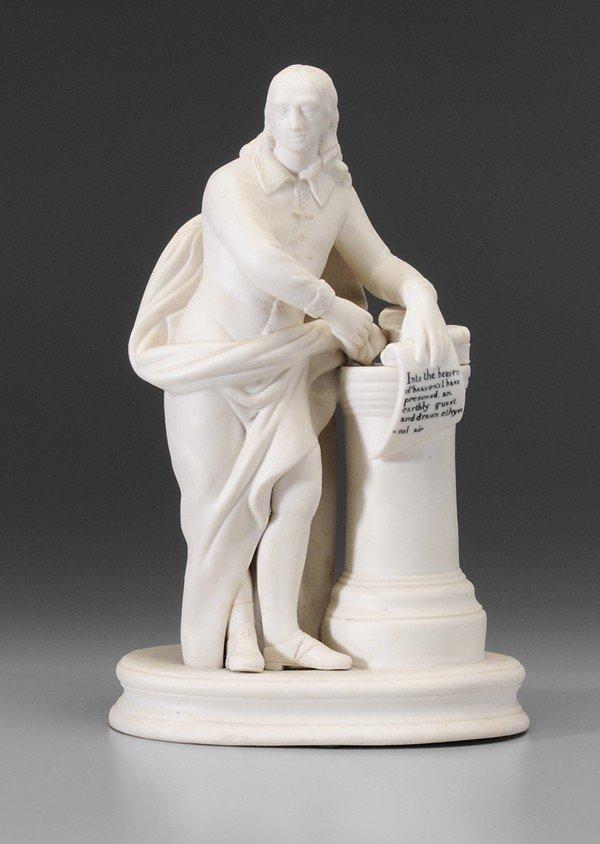 8: Parian Ware Figure of Milton