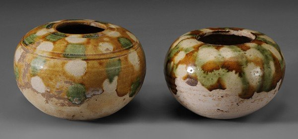 696: Two Pottery Jarlets