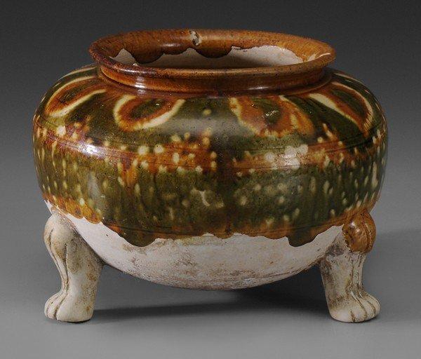 697: Pottery Tripod Vessel