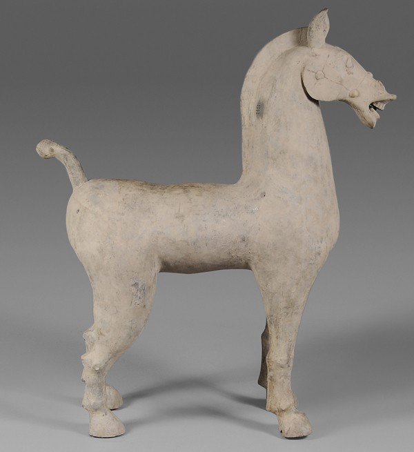 705: Terra Cotta Tomb Figure of a Horse