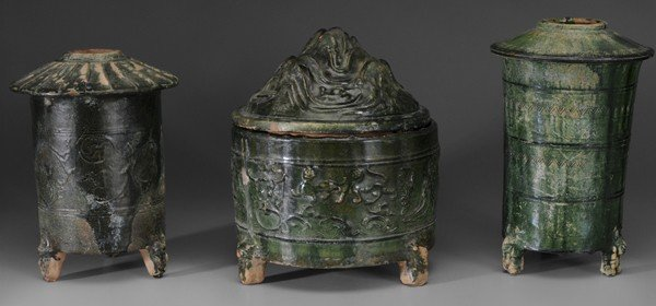 716: Three Ceramic Tomb Objects