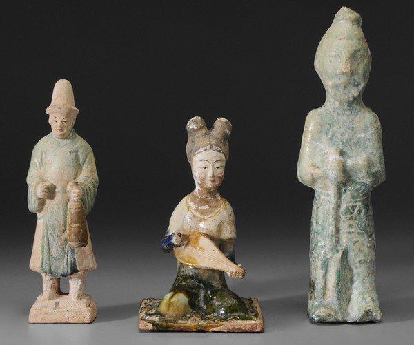 717: Three Ceramic Tomb Models