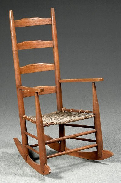 506: Ladderback rocking chair,