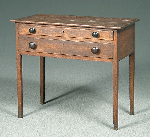 507: 19th century oak table,