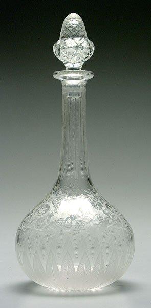 514: Fine intaglio-cut glass decanter,