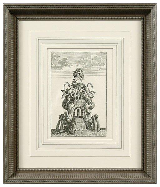 521: Eight fountain engravings,