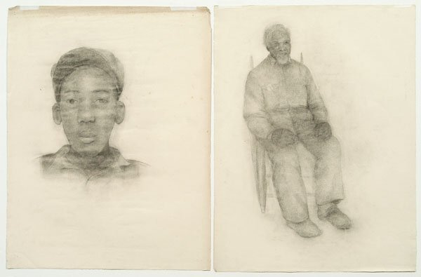 523: Charcoal sketches, Lola Harwood,
