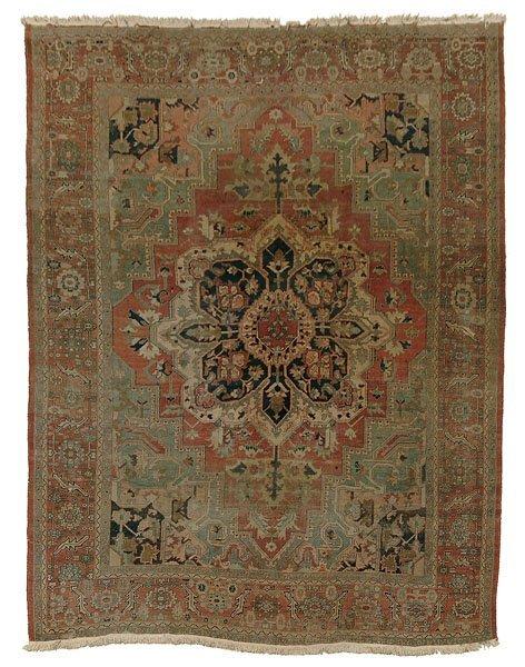 537: Antique Heriz rug,